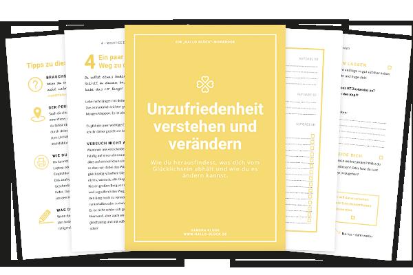 Hallo Glück |Workbook Unzufriedenheiten erkennen und Lösungen finden