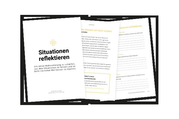 Hallo Glück | Arbeitsblatt | Tools |Situationen reflektieren | Wahrnehmung